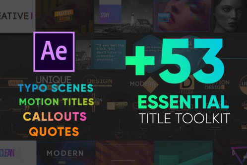 Essential Titles Toolkit – Công cụ thiết kế Title